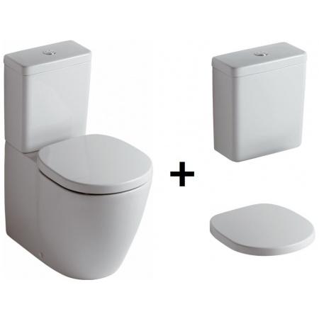 Ideal Standard Connect Kompakt WC ze zbiornikiem i deską wolnoopadającą, biały E803701+E797001+E712701