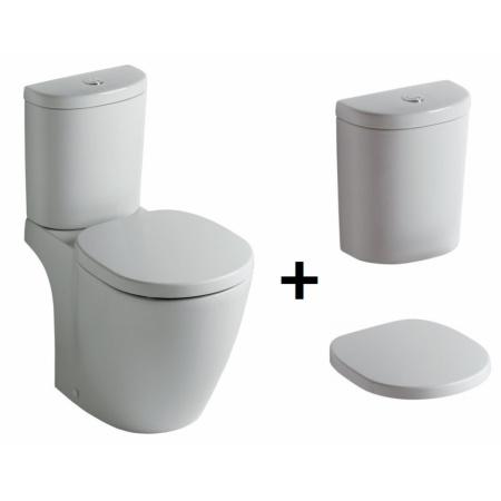 Ideal Standard Connect Kompakt WC ze zbiornikiem i deską wolnoopadającą, biały E803801+E785601+E712701