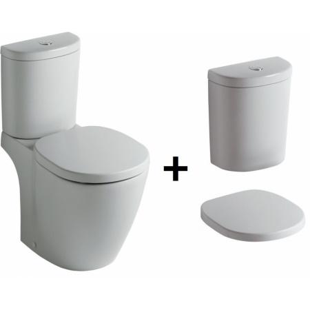 Ideal Standard Connect Kompakt WC ze zbiornikiem i deską wolnoopadającą, biały E803801+E786101+E712701