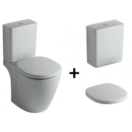 Ideal Standard Connect Kompakt WC ze zbiornikiem i deską wolnoopadającą, biały E803801+E797001+E712701
