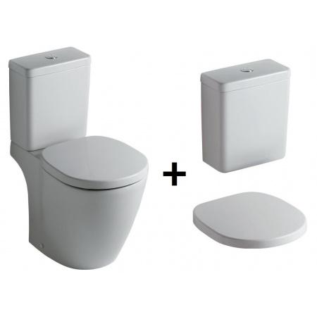 Ideal Standard Connect Kompakt WC ze zbiornikiem i deską wolnoopadającą, biały E803801+E797101+E712701