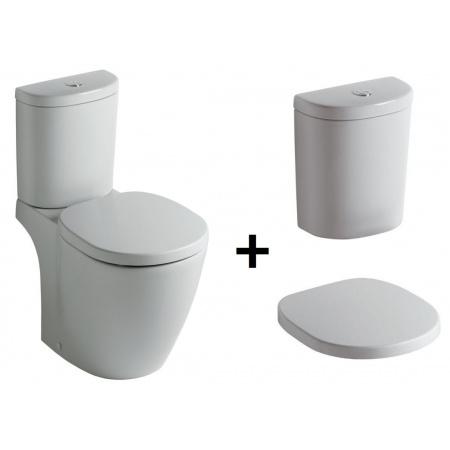 Ideal Standard Connect Kompakt WC ze zbiornikiem i deską zwykłą, biały E803601+E785601+E712801