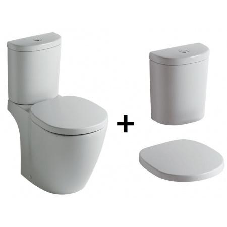 Ideal Standard Connect Kompakt WC ze zbiornikiem i deską zwykłą, biały E803601+E786101+E712801