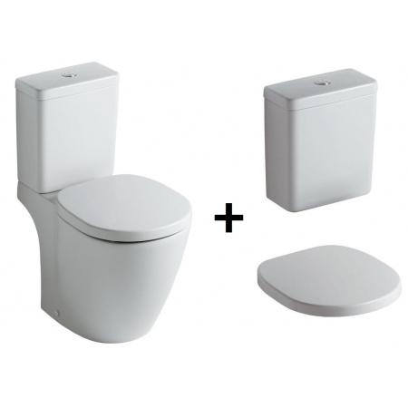Ideal Standard Connect Kompakt WC ze zbiornikiem i deską zwykłą, biały E803601+E797001+E712801