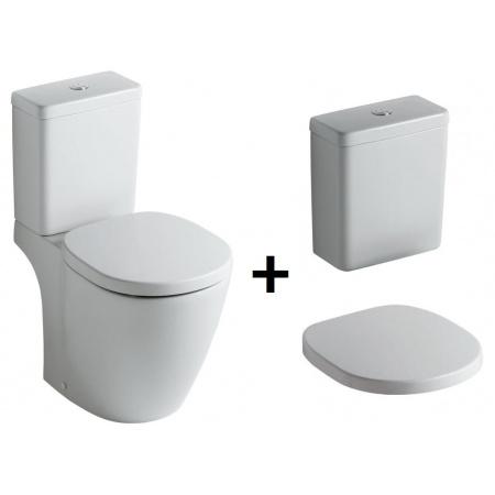 Ideal Standard Connect Kompakt WC ze zbiornikiem i deską zwykłą, biały E803601+E797101+E712801