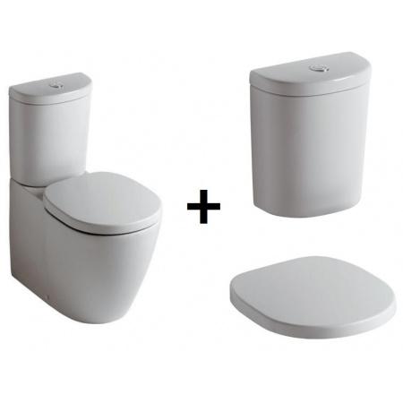 Ideal Standard Connect Kompakt WC ze zbiornikiem i deską zwykłą, biały E803701+E785601+E712801