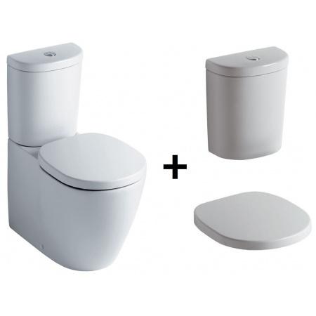 Ideal Standard Connect Kompakt WC ze zbiornikiem i deską zwykłą, biały E803701+E786101+E712801