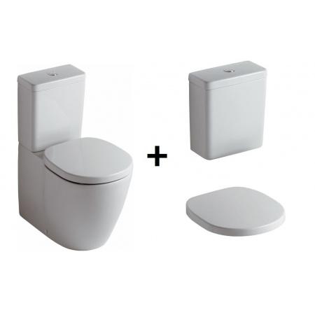 Ideal Standard Connect Kompakt WC ze zbiornikiem i deską zwykłą, biały E803701+E797001+E712801