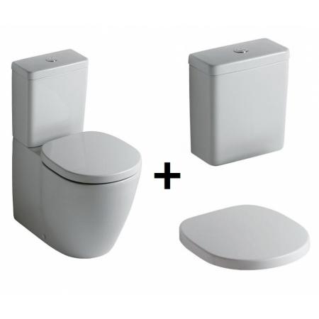 Ideal Standard Connect Kompakt WC ze zbiornikiem i deską zwykłą, biały E803701+E797101+E712801