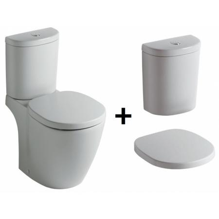 Ideal Standard Connect Kompakt WC ze zbiornikiem i deską zwykłą, biały E803801+E785601+E712801