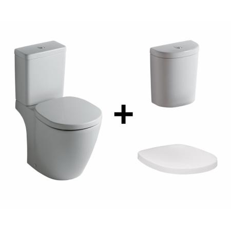 Ideal Standard Connect Kompakt WC ze zbiornikiem i deską zwykłą, biały E803801+E786101+E712801