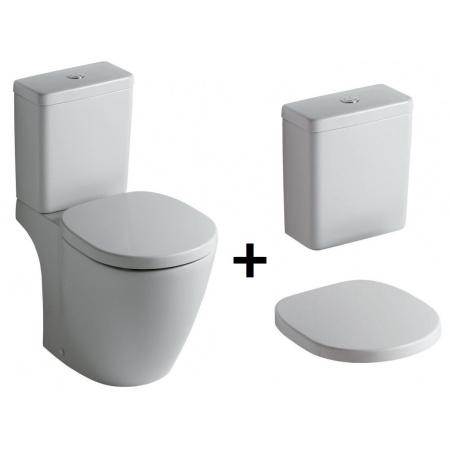 Ideal Standard Connect Kompakt WC ze zbiornikiem i deską zwykłą, biały E803801+E797001+E712801