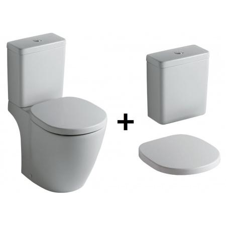Ideal Standard Connect Kompakt WC ze zbiornikiem i deską zwykłą, biały E803801+E797101+E712801