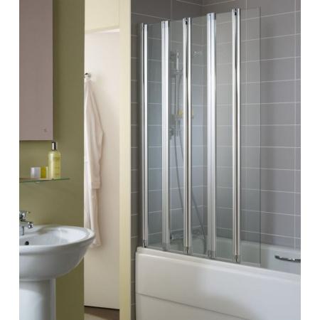 Ideal Standard Connect Ekran do wanny składany 5-częściowy 105x150 cm, profil srebrny, szkło przeźroczyste T9926EO