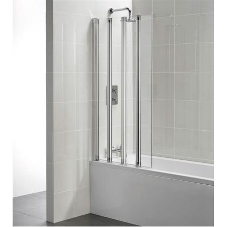 Ideal Standard Connect Ekran do wanny składany 4-częściowy 85x150 cm, profil srebrny, szkło przeźroczyste T9925EO