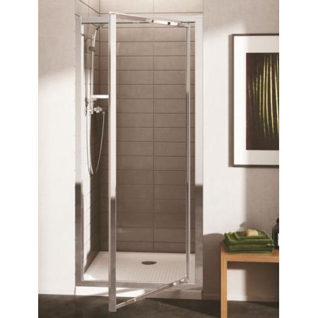 Ideal Standard Connect Drzwi prysznicowe 90 cm, profile srebrne, szkło mrożone T9844EO