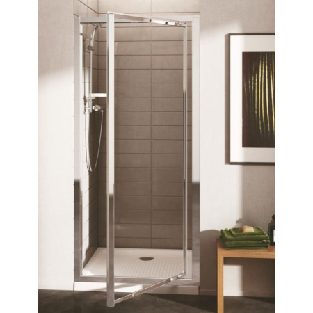 Ideal Standard Connect Drzwi prysznicowe 95 cm, profile srebrne, szkło mrożone T9845EO