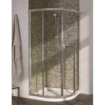 Ideal Standard Connect Kabiny prysznicowa półokrągła 80x80 cm, profil srebrny, szkło mrożone T9823EO