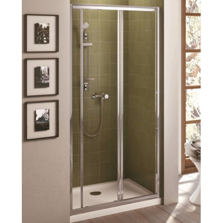 Ideal Standard Connect Drzwi prysznicowe przesuwne 110 cm, profile białe, szkło przeźroczyste T9882AC