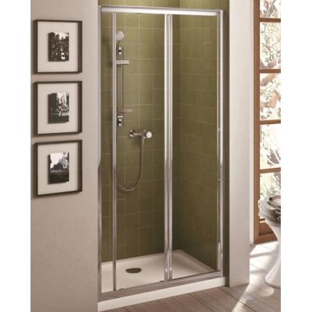 Ideal Standard Connect Drzwi prysznicowe przesuwne 95 cm, profile srebrne, szkło mrożone T9893EO