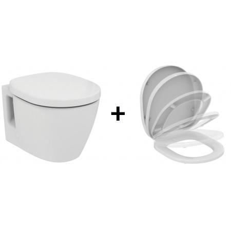 Ideal Standard Connect Zestaw Toaleta WC podwieszana 36x54 cm z deską sedesową wolnoopadającą Duroplast, biała E803501+E712701