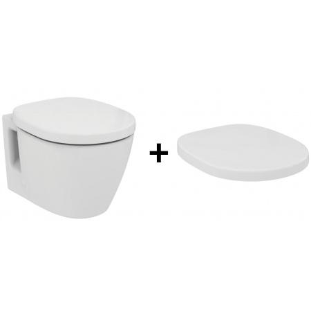 Ideal Standard Connect Zestaw Toaleta WC podwieszana 36x54 cm z deską sedesową zwykłą Duroplast, biała E803501+E712801