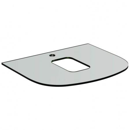 Ideal Standard Dea Blat szklany 80x54x1 cm, z otworem na baterię, biały T7867SA