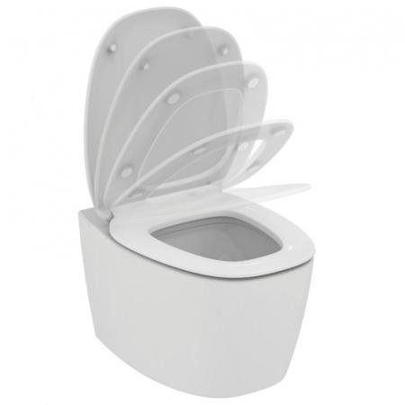 Ideal Standard Dea Toaleta WC podwieszana 55x36,5 cm Aquablade z ukrytym mocowaniem i deską sedesową wolnoopadającą, biała T348801