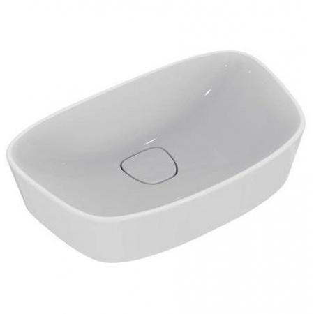 Ideal Standard Dea Umywalka nablatowa 52x32 cm bez otworów na baterię i bez przelewu, biała T044301