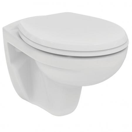 Ideal Standard Eurovit Miska WC wisząca Rimless bez kołnierza 52,5x37 cm, biała K881001