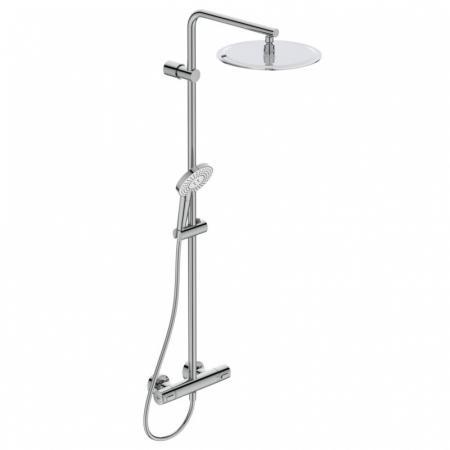 Ideal Standard IdealRain Luxe Zestaw prysznicowy natynkowy z termostatem i deszczownicą chrom A6984AA