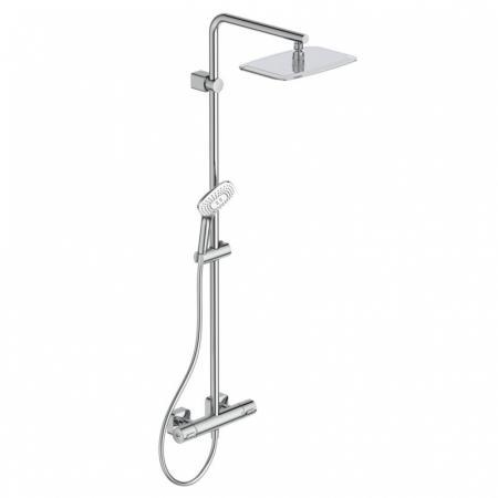 Ideal Standard IdealRain Luxe Zestaw prysznicowy natynkowy z termostatem i deszczownicą chrom A6986AA