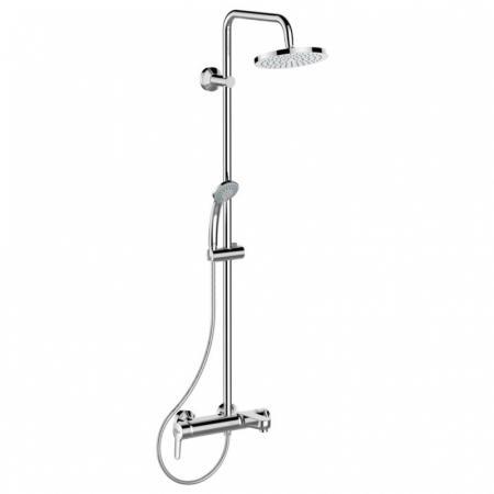 Ideal Standard Idealrain Soft Zestaw prysznicowy natynkowy z deszczownicą chrom B1097AA