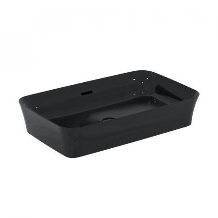 Ideal Standard Ipalyss Umywalka nablatowa 55x38 cm bez otworu na baterię z przelewem czarny połysk E2078V2