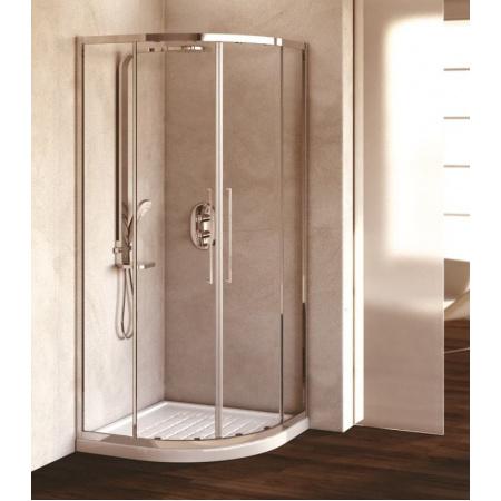 Ideal Standard Kubo Kabina prysznicowa półokrągła 100x100 cm, profile chrom, szkło satynowe T7149EO