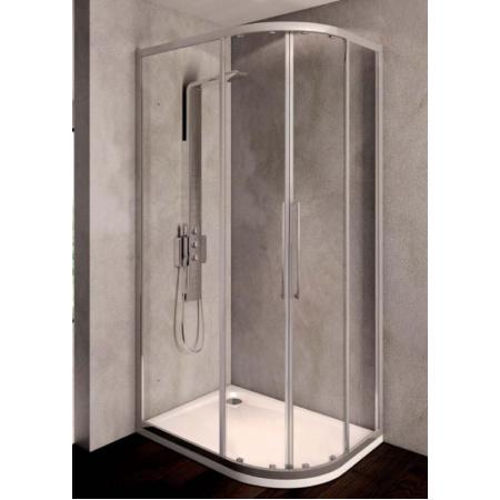 Ideal Standard Kubo Kabina prysznicowa półokrągła asymetryczna 80x100 cm, profile chrom, szkło satynowe T7152EO