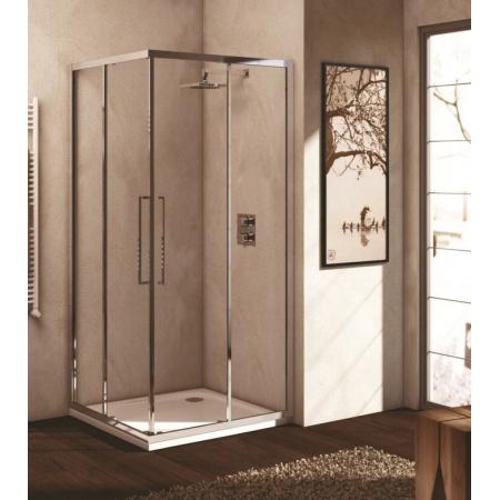 Ideal Standard Kubo Kabina prysznicowa z wejściem narożnym 90 cm, profile chrom, szkło przeźroczyste T7158EO