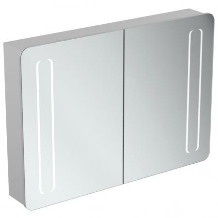Ideal Standard Mirror+light Szafka z lustrem ścienna 100x70 cm, efekt aluminium T3389AL