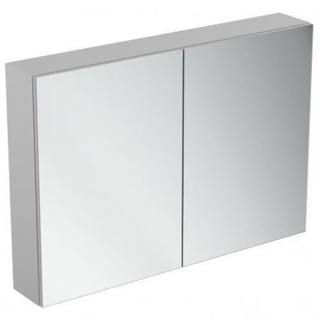 Ideal Standard Mirror+light Szafka z lustrem ścienna 100x70 cm, efekt aluminium T3498AL
