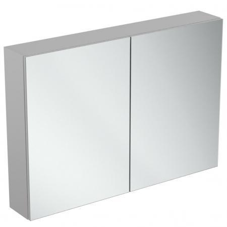 Ideal Standard Mirror+light Szafka z lustrem ścienna 100x70 cm, efekt aluminium T3592AL
