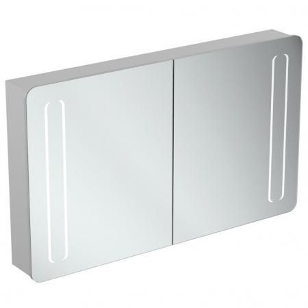 Ideal Standard Mirror+light Szafka z lustrem ścienna 120x70 cm, efekt aluminium T3425AL
