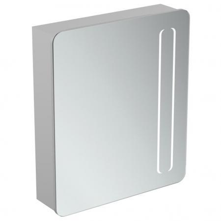 Ideal Standard Mirror+light Szafka z lustrem ścienna 60x70 cm, efekt aluminium T3373AL