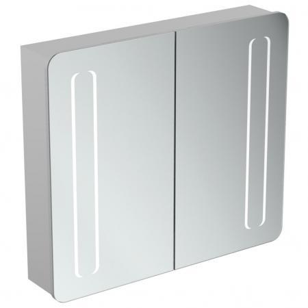 Ideal Standard Mirror+light Szafka z lustrem ścienna 80x70 cm, efekt aluminium T3388AL
