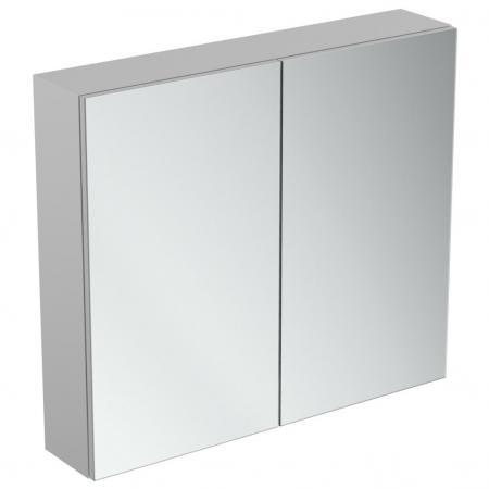 Ideal Standard Mirror+light Szafka z lustrem ścienna 80x70 cm, efekt aluminium T3442AL
