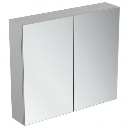 Ideal Standard Mirror+light Szafka z lustrem ścienna 80x70 cm, efekt aluminium T3591AL