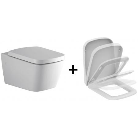 Ideal Standard Strada SimplyU Zestaw Toaleta WC podwieszana 36x56 cm z deską sedesową wolnoopadającą Duroplast, biała J452101+J469701