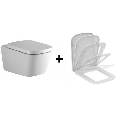 Ideal Standard Strada SimplyU Toaleta WC podwieszana 36x56 cm z deską sedesową wolnoopadającą typu Thin, biała J452101+J505801