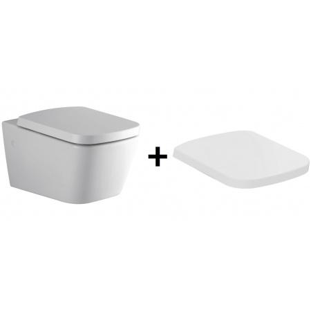 Ideal Standard Strada SimplyU Toaleta WC podwieszana 36x56 cm z deską sedesową zwykłą Duroplast, biała J452101+J452201