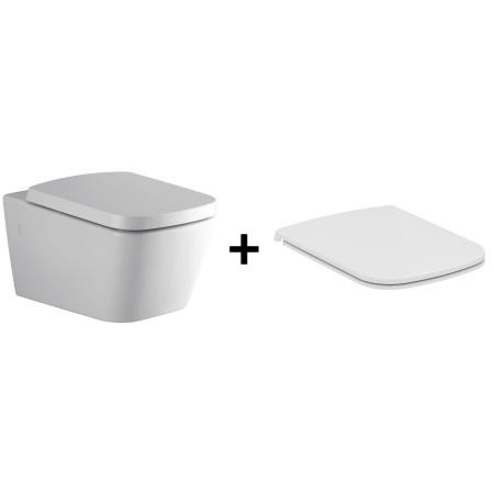 Ideal Standard Strada SimplyU Toaleta WC podwieszana 36x56 cm z deską sedesową zwykłą typu Thin, biała J452101+J505701