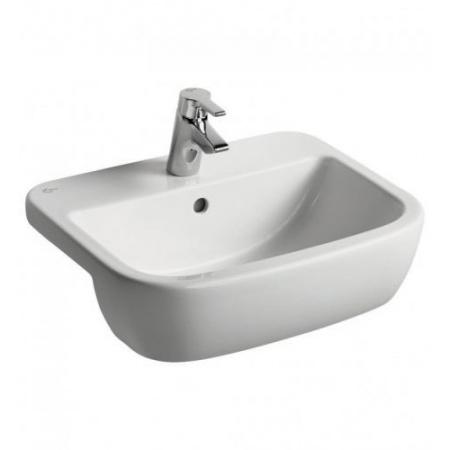 Ideal Standard Tempo Umywalka półblatowa 55x45x20 cm, z jednym otworem, z przelewem, biała T059001
